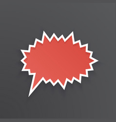 red comic speech bubble for scream prickly shape vector image