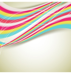 retro background with flowing stripes vector image
