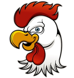 Rooster head vector
