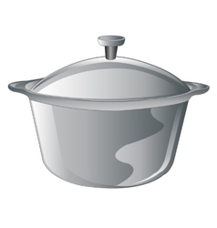 Saucepan on white vector