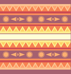 Seamless geometric ethnic texture with sun for vector
