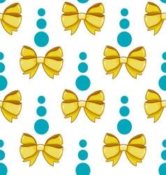Seamless pattern cute cartoon bows-4 vector image