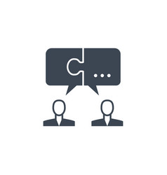 solution related glyph icon vector image