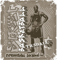 Streetball basketball vector