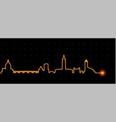 Toulouse light streak skyline vector