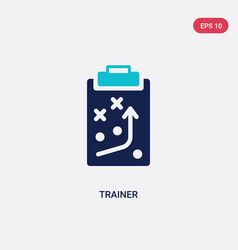 Two color trainer icon from american football vector