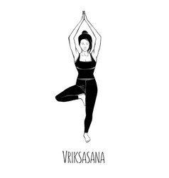yoga pose vriksasana tree vector image