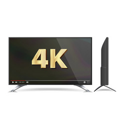 4k tv screen video player modern lcd vector image vector image