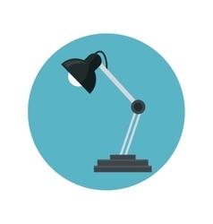 desk lamp bulb light blue background vector image