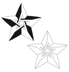 impossible star for your project icon or logo vector image vector image