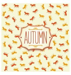 Label design for autumn season 2014 vector image vector image