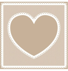 Lacy heart frame vector image vector image