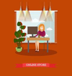 online store concept in flat vector image vector image