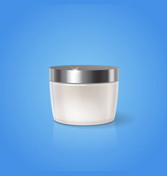 white cream jar design blank cosmetic container vector image vector image