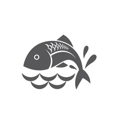 black fish icon vector image vector image
