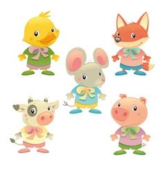 Cute animal family vector image