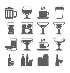 Drink icons set vector image vector image