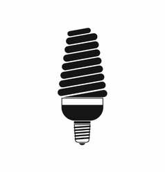 Energy saving bulb icon simple style vector image vector image