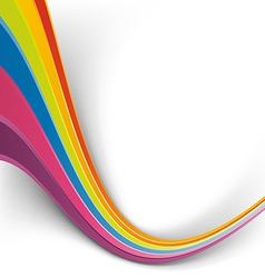 Rainbow speed wave swoosh colorful background vector image vector image