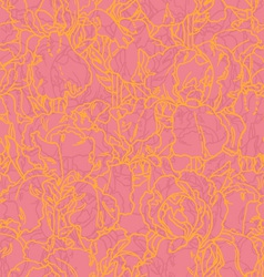 seamless pattern with outlined irises vector image vector image