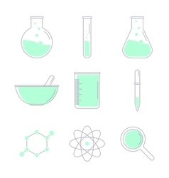 Set of laboratory equipment vector image