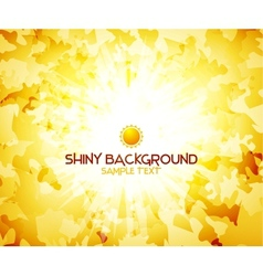 Sunshine yellow abstract background vector image