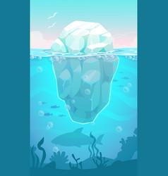 big iceberg in the ocean vector image