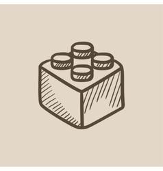 Building block sketch icon vector image