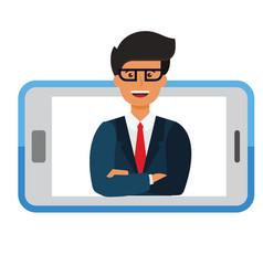 business mobile application businessman i vector image