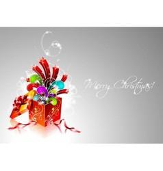 christmas with magic gift box vector image vector image