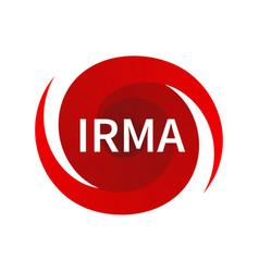 Graphic symbol of hurricane irma vector