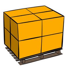 pallet icon cartoon vector image vector image
