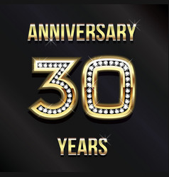 30 years anniversary card design design vector image vector image
