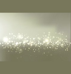 gold and silver bokeh sky background with glitter vector image