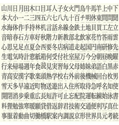 kanji set vector image vector image
