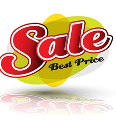 SALE best price banner vector image