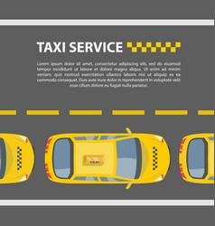 taxi service mockup vector image vector image