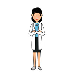 woman doctor avatar character icon vector image