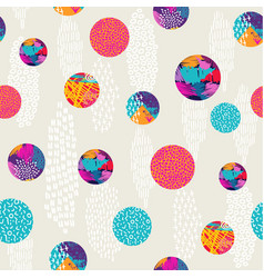abstract polka dot colorful pattern background art vector image