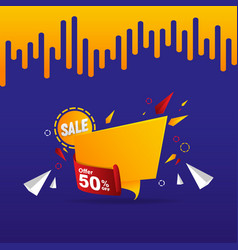 abstract sale label 50 off tag concept design vector image