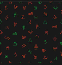 abstract seamless pattern christmas elements vector image