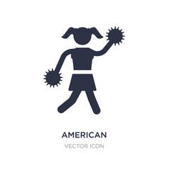 American football cheerleader jump icon on white vector