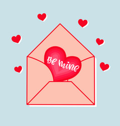 an envelope with a heart and inscription be vector image