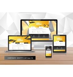 Artistic corporate identity template vector