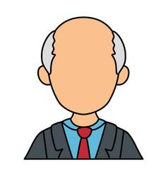 Avatar old man icon vector