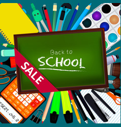 Back to school background with vector