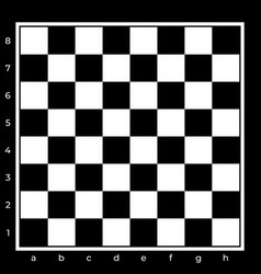 Black and white chess board background design vector