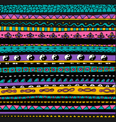 Bright colourful tribal seamless pattern vector