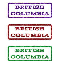 british columbia watermark stamp vector image