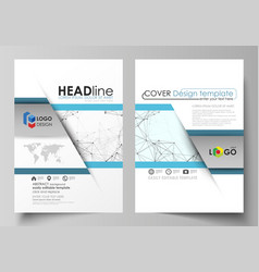 business templates for brochure flyer booklet vector image